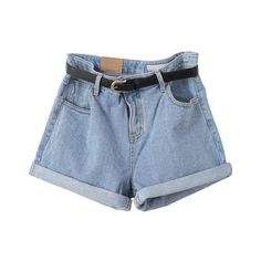 Nicki Denim shorts ($55) ❤ liked on Polyvore featuring shorts, bottoms, pants, short, denim, jean shorts, denim shorts, short jean shorts, denim short shorts and short shorts
