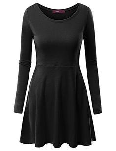 Doublju Women Long Sleeve Basic Comfy Drape Dress BLACK,2XL Doublju http://www.amazon.com/dp/B014IML3HE/ref=cm_sw_r_pi_dp_NdvLwb19SDBR8