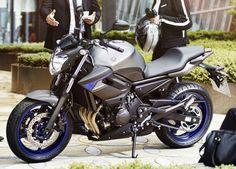 Yamaha XJ6 - motorcykeln jag lärde mig köra på.