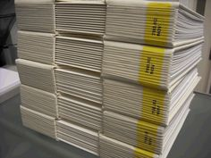 Carla Novi 'White Books' (2010): 5 blank books are registered similarly to other books in the GSA Library and placed dispersively for the browsing users coming across can hold their awareness on the object they're holding rather than the information they are obsessed.