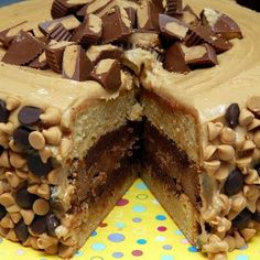 REESE'S OVERLOAD CAKE