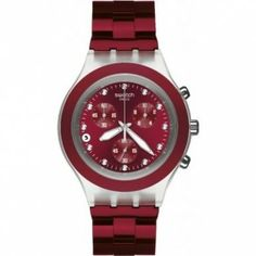 Relógio Swatch Full Blooded Smoky Burgundy Chronograph Watch SVCK4054AG #Relogios #Swatch