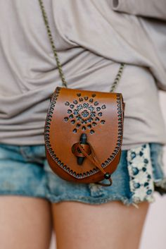 Bohemian Leather Cross Body, Toggle Tote Bag, Hand Stamped Purse, Sol Child Leather Hand Bag in Brown (B1112BRN) by ThreeBirdNest on Etsy https://www.etsy.com/listing/186566342/bohemian-leather-cross-body-toggle-tote