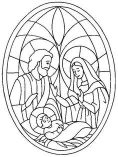 kerst glas in lood / navidad