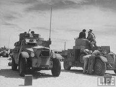 British & Egyptian Forces British Army armored cars getting mechanical maintenance at camp in the desert nr. Cairo.. Location: Maadi, Egypt Date taken: July 1940 Photographer: Margaret Bourke-White - See more at: http://s236.photobucket.com/user/abndeuce/media/Britisharmouredcars.jpg.html#sthash.rqX8S0aw.dpuf