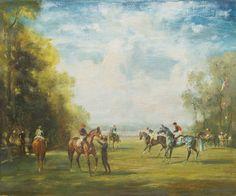 Raoul Millais, Scenes at #Chantilly #horseracing #painting #sportingart