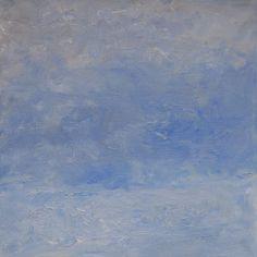 Rautio: Haukivesi huhtikuussa - Lake Haukivesi in April, 73x73 cm, oil on canvas, 2017