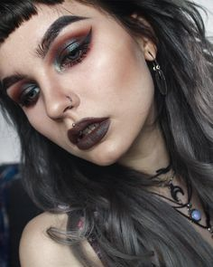 makeup ideas ideas for blue eyes makeup ideas makeup ideas quinn makeup ideas eye makeup ideas makeup ideas for women halloween makeup ideas Grunge Makeup, Goth Makeup, Makeup Art, Beauty Makeup, Hippie Makeup, Alien Makeup, Devil Makeup, Scary Makeup, Makeup Goals