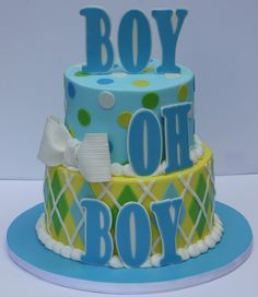 Great for a preppy themed baby shower.