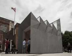Clerkenwell Design Week, London 2014. ¨Smith¨ pavillion by Studio Weave, clad with a new facade material, EQUITONE [linea]. #texture #design #architecture #clerkenwell www.equitone.com