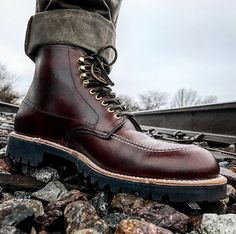 "67 Likes, 3 Comments - Alden of Carmel (@aldenofcarmel) on Instagram: ""All-Terrain Indy Boot, Brown CXL, Vibram Lug Sole. Model AOC-42. Photo by Andrew Carr @inn8chiro"""