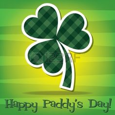 Happy Paddy s Day shamrock card in vector format  Stock Vector