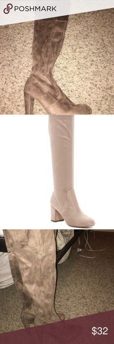 Tan suede over the knee boots Tan suede  Over the knee boots  Brand new-never worn Great for fall and winter  Very trendy Windsor Shoes Over the Knee Boots