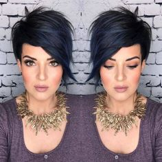 Pixie Hairstyles 11183 23 Short Hair Styles and Colors Are The Most Popular in Spring 2020 - Lily Fashion Style Edgy Short Hair, Short Straight Hair, Short Hair Cuts, Short Hair Styles, Short Hair Trends, Thick Hair, Easy Everyday Hairstyles, Straight Hairstyles, Curly Hairstyles