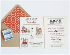 Adorable invites from Swiss Cottage Designs