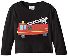Flap Happy Baby Boys Boys Crew Neck Tee With Screen Print Fire Truck 12 Months -- You can get additional details at the image link.