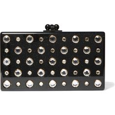 Edie ParkerJean Embellished Glittered Acrylic Box Clutch (€1.595) ❤ liked on Polyvore featuring bags, handbags, clutches, acrylic purse, acrylic handbag, lucite purse, embellished purses and hard clutch
