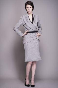 Grey Cashmere Skirt click for more information Cashmere Jacket, Dresses For Work, Grey, Skirts, Jackets, Collection, Fashion, Dress, Down Jackets