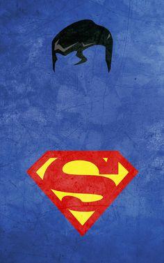 Posters de Súper Héroes Minimalistas