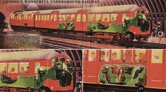 British Metro Train. This wonderful illustration of a British tube train was featured in Eagle, a seminal British children's comic in April 1950.