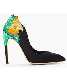 These satin embroidered shoes are awesome!