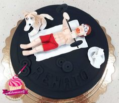 Fitness Cake Bolo Fitness Fitness Cake, Bolo Fit, Birthday Cake, Desserts, Food, Personalized Cakes, Tailgate Desserts, Deserts, Birthday Cakes