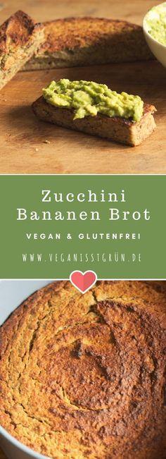 Dieses Zucchini Bananen Brot ist flott hergestellt, vegan und glutenfrei. Eine gesunde Alternative zu fertigen Broten.