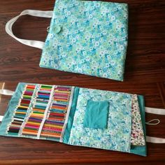 Diy Pencil Case, Pencil Boxes, Crafts To Do, Crafts For Kids, Arts And Crafts, Wine Cork Ornaments, Pen Case, Fabric Art, Quilt Patterns