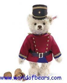 Steiff's very first, working nut cracker, mohair teddy bear. Limited Edition ean 037269 Teddy Bear Nutcracker!