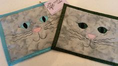 Cat Mug Rug Kitten Mug Rug Trivet Snack Mat Mini Placemat Darcy Doodle Quilts