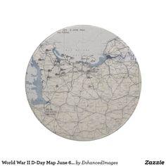 World War II D-Day Map June 6, 1944