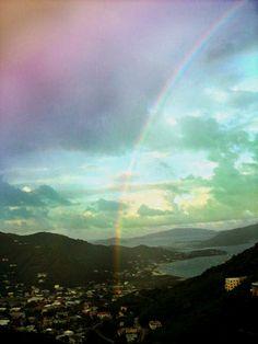 Rainbows and Caribbean mountains