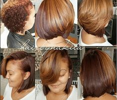 Blowout Hairstyles, Bob Hairstyles, Black Hairstyles, American Hairstyles, Braided Hairstyles, Natural Hair Haircuts, Natural Hair Bob, Curly Hair Styles, Natural Hair Styles