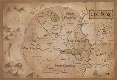 Map of The Shire: Lord of the Rings