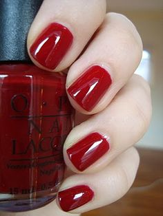 Edin-Burgundy (this is what a fall red should look like!) OPI #nail #nailpolish