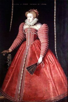Catherine de Medici  Date and artist unknown (I would guess late 1570's/ early 1580's)