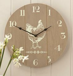 Gisela Graham Hen Wooden Clock