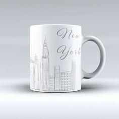 Mug New York Sketch - Imaginaerum Regalos - Diseños Creativos