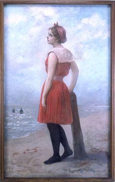 Champney, James WellsAmerican (1843-1903) dessin: La Néréide moderne, Mlle F. Knappcirca 1897 Historic Deerfield