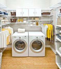 Waschküche einrichten - 33 Ideen für einen modernen Wäscheraum - http://wohnideenn.de/esszimmer/11/waschkuche-einrichten-modern-wascheraum.html #Esszimmer