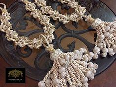 Elegant Linen Tieback #DecorCLASSIQUE #EffilePassementerie