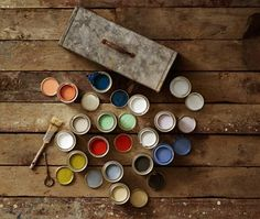 paint and tin box