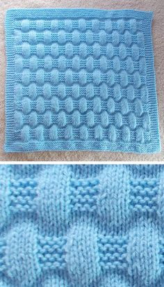 Free Knitting Pattern for Easy Jordan Baby Blanket - This easy blanket is knit with just knit and purl stitches to create a puffy texture. Size is easily customizable. Rated easy by Ravelrers. Designed by marianna mel. #DK weight yarn.