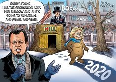 It's Groundhog Day. Will Hillary see her shadow and run for president a third time? Many people, including H. Goodman and. Vince Foster, Ben Garrison, Ben Hill, Bbc World Service, Crooked Hillary, Political Spectrum, Groundhog Day, Face Expressions, Running For President