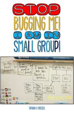 If you teach and small group work is part of your construct.you want uninterrupted time with your learners and inevitably, there are students Second Grade Teacher, First Grade Teachers, New Teachers, Third Grade, Fourth Grade, Beginning Of Kindergarten, Beginning Of The School Year, Kindergarten Reading, Kindergarten Classroom