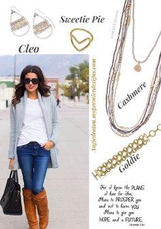 Premier 2017 jewelry! Cleo earrings, Sweetie pie ring, Cashmere necklace, goldie bracelet  #pdstyle #pdjewelry#kellysstylecenter #sparkle #bling #premierjewelry#momboss #workingmom #workfromhome #selfemployed#freejewelry #fashion #jewelry #ontrend #styleshow#accessorystylist #kjoutfitoftheday #highfashionjewelry #khallthingsbeYOUtiful #dreamjob #premiereveryday