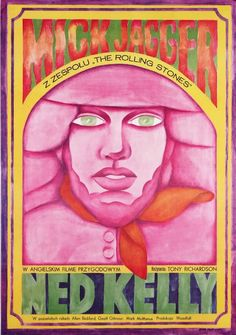Mick Jagger and Ned Kelly Poster