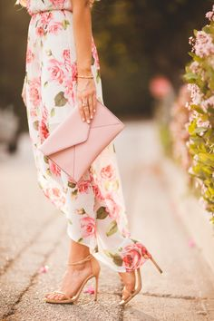 Floral Maxi DressAngelFoodStyle