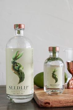 Seedlip Garden 108 Herbal Distilled Non-Alcoholic Spirits - Tea Packaging, Beverage Packaging, Packaging Design, Packaging Ideas, Gin Bottles, Vodka Bottle, O Gin, Non Alcoholic Beer, Stop Drinking Alcohol