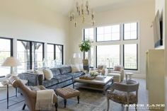 Windows/living room inspiration | French Moderne Manor Design | Alice Lane Home Collection